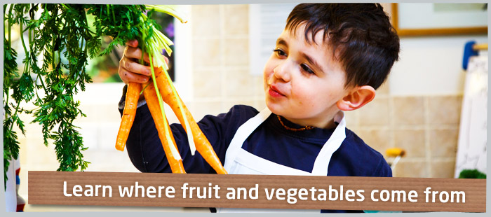 Learn where fruit & vegetables come from