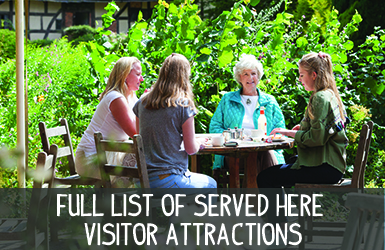 Full List of Served Here Visitor Attractions