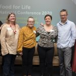 Delegates at Food for Life conference with Hugh Fearnley-Whittingstall and Jeanette Orrey